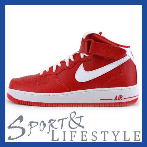 Nike Air Force 1 One Mid rot weiß (315123 601) Diverse